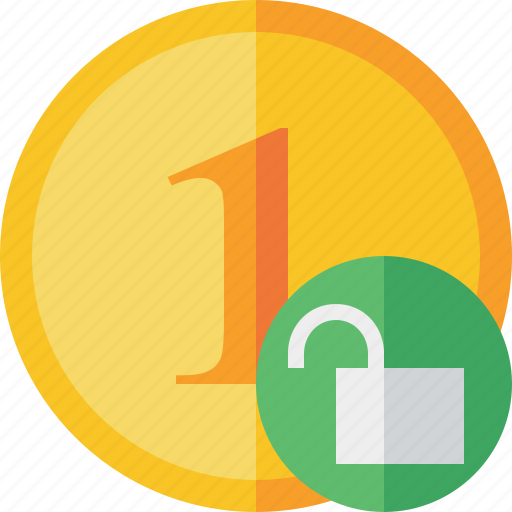 Cash, coin, currency, finance, money, unlock icon - Download on Iconfinder