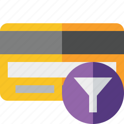 buy, card, credit, debit, filter, money, payment icon