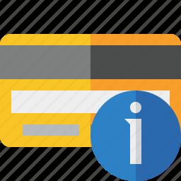 buy, card, credit, debit, information, money, payment icon