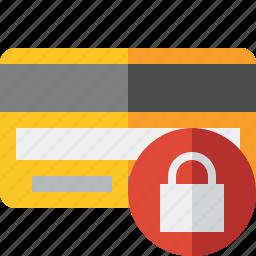 buy, card, credit, debit, lock, money, payment icon