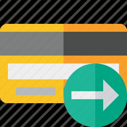 buy, card, credit, debit, money, next, payment icon