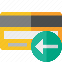 buy, card, credit, debit, money, payment, previous icon