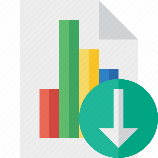 bar, chart, document, download, file, graph, report icon