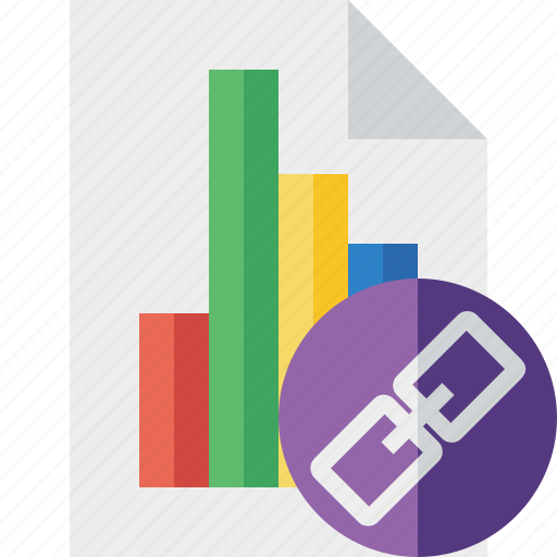 bar, chart, document, file, graph, link, report icon
