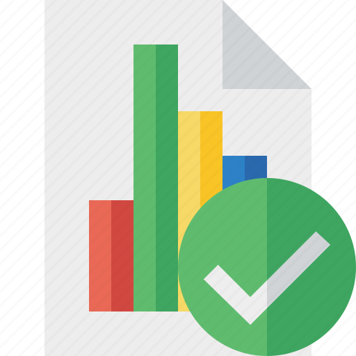 bar, chart, document, file, graph, ok, report icon