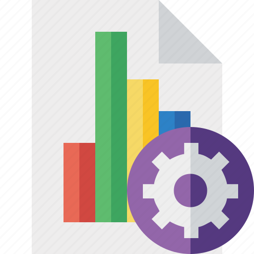 bar, chart, document, file, graph, report, settings icon