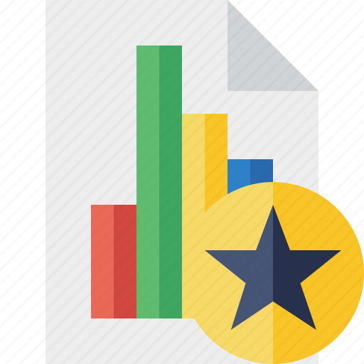 bar, chart, document, file, graph, report, star icon
