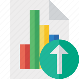 bar, chart, document, file, graph, report, upload icon
