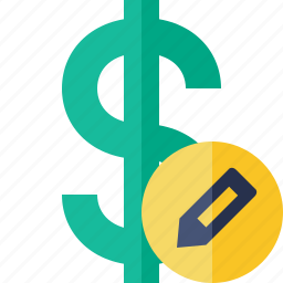 business, cash, currency, dollar, edit, finance, money icon