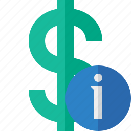 business, cash, currency, dollar, finance, information, money icon