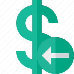 business, cash, currency, dollar, finance, money, previous icon
