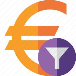 business, cash, currency, euro, filter, finance, money icon