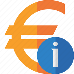 business, cash, currency, euro, finance, information, money icon