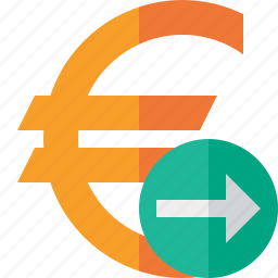 business, cash, currency, euro, finance, money, next icon