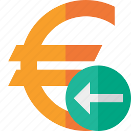 business, cash, currency, euro, finance, money, previous icon