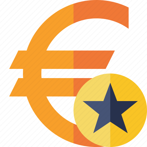 business, cash, currency, euro, finance, money, star icon