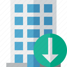 building, business, company, download, estate, house, office icon
