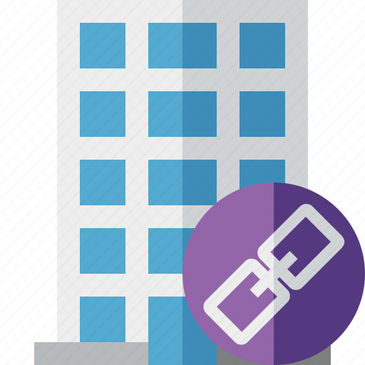 building, business, company, estate, house, link, office icon