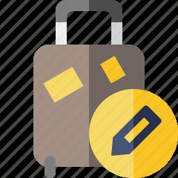 bag, baggage, edit, luggage, suitcase, travel, vacation icon