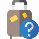 bag, baggage, help, luggage, suitcase, travel, vacation icon