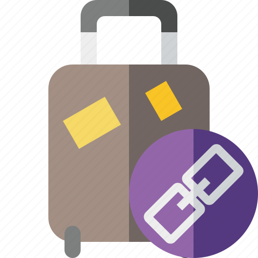 bag, baggage, link, luggage, suitcase, travel, vacation icon