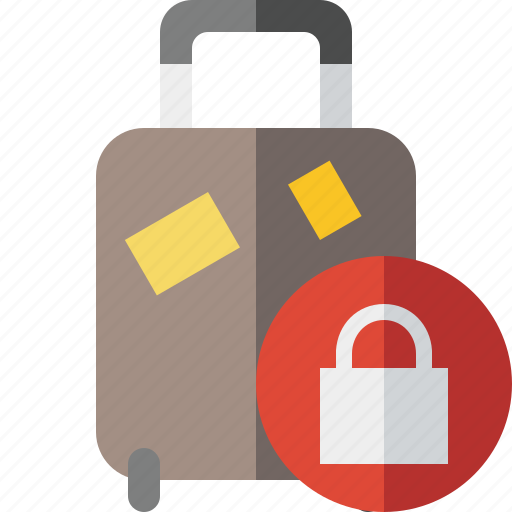 bag, baggage, lock, luggage, suitcase, travel, vacation icon