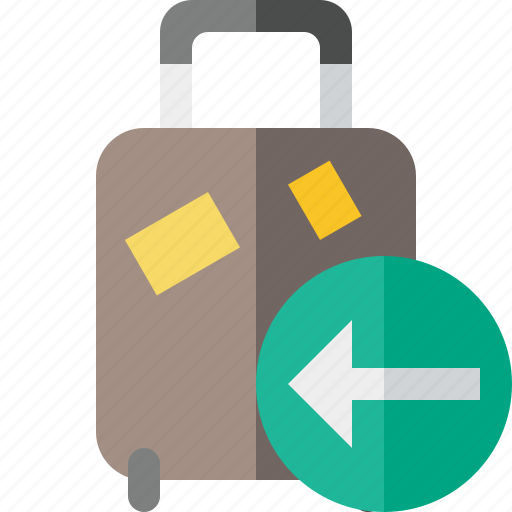 bag, baggage, luggage, previous, suitcase, travel, vacation icon