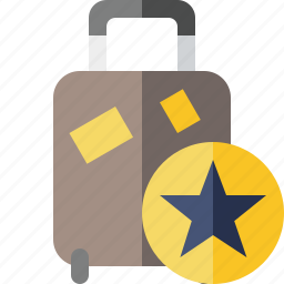 bag, baggage, luggage, star, suitcase, travel, vacation icon