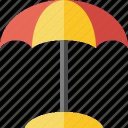 beach, umbrella icon