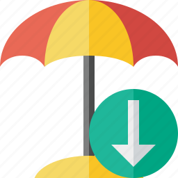 beach, download, summer, sun, travel, umbrella, vacation icon