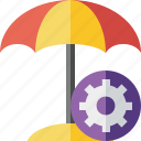 beach, settings, summer, sun, travel, umbrella, vacation icon