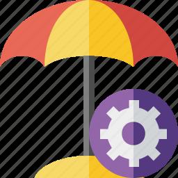 beach, settings, summer, sun, travel, umbrella, vacation icon