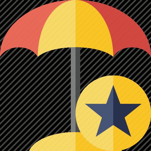 beach, star, summer, sun, travel, umbrella, vacation icon