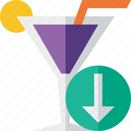alcohol, beverage, cocktail, download, drink, glass, vacation icon