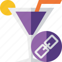 alcohol, beverage, cocktail, drink, glass, link, vacation icon