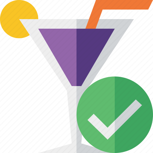 alcohol, beverage, cocktail, drink, glass, ok, vacation icon