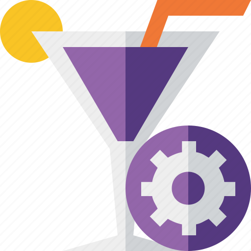 alcohol, beverage, cocktail, drink, glass, settings, vacation icon