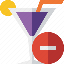 alcohol, beverage, cocktail, drink, glass, stop, vacation icon