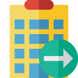 building, city, hotel, next, office, travel, vacation icon