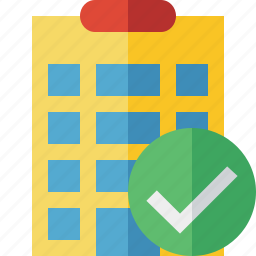building, city, hotel, office, ok, travel, vacation icon