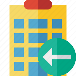 building, city, hotel, office, previous, travel, vacation icon