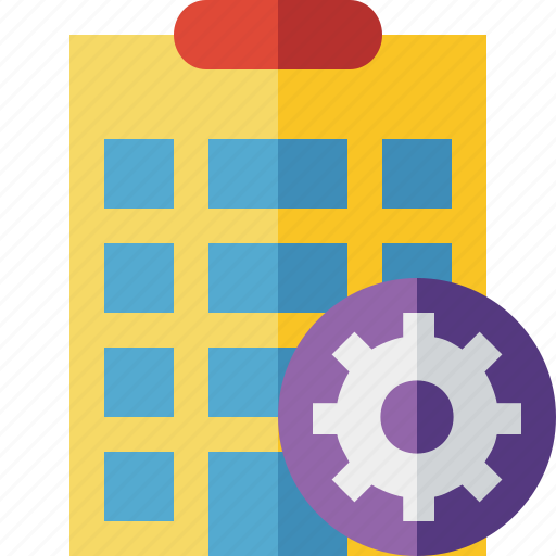 building, city, hotel, office, settings, travel, vacation icon