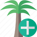add, palmtree, travel, tree, tropical, vacation