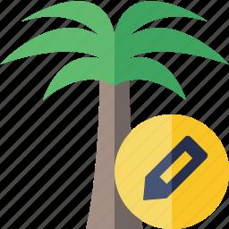 edit, palmtree, travel, tree, tropical, vacation icon