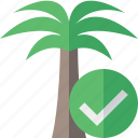 ok, palmtree, travel, tree, tropical, vacation icon