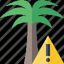 palmtree, travel, tree, tropical, vacation, warning