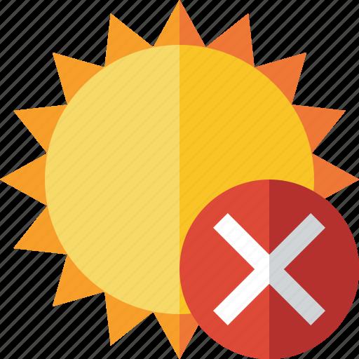 cancel, summer, sun, sunny, travel, vacation, weather icon