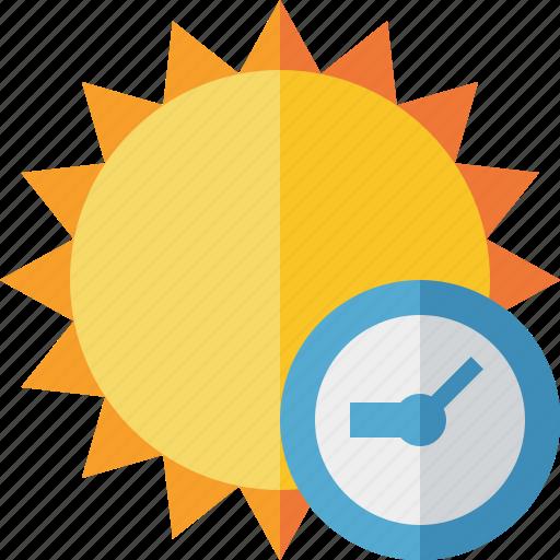 clock, summer, sun, sunny, travel, vacation, weather icon