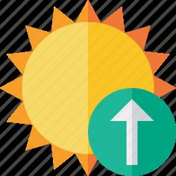 summer, sun, sunny, travel, upload, vacation, weather icon