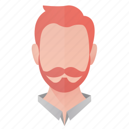 avatar, beard, business, man, person, profile, user icon